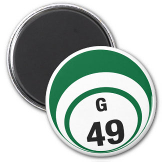 G49 bingo ball fridge magnet