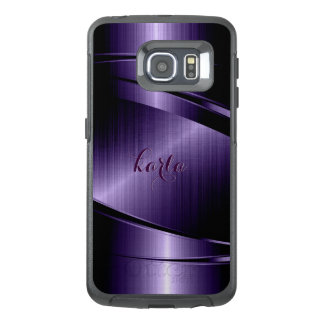 G4 Metallic Purple Print Modern Geometric Design OtterBox Samsung Galaxy S6 Edge Case