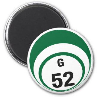 G52 bingo ball fridge magnet