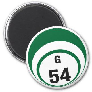 G54 bingo ball fridge magnet