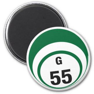 G55 bingo ball fridge magnet