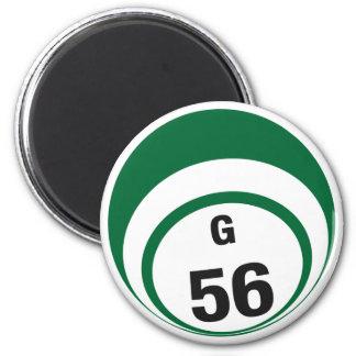 G56 bingo ball fridge magnet