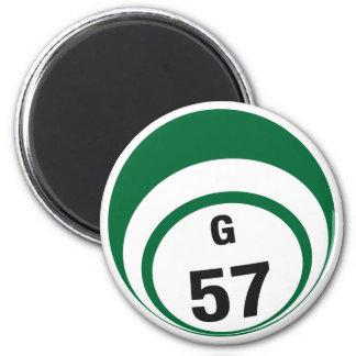 G57 bingo ball fridge magnet