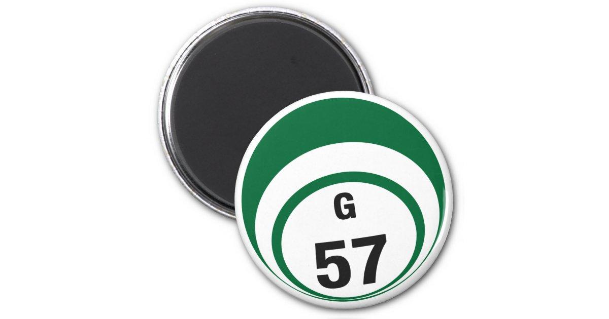 G57 Bingo Ball Fridge Magnet Zazzle Com
