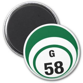 G58 bingo ball fridge magnet