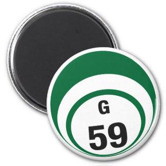 G59 bingo ball fridge magnet