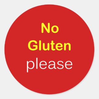 g5 - Food Request ~ NO GLUTEN PLEASE. Classic Round Sticker