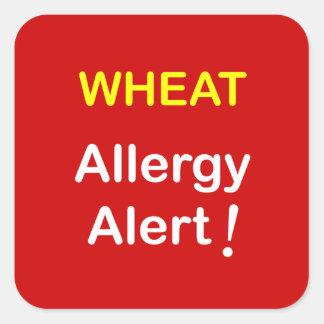 g7 - Allergy Alert - WHEAT. Square Sticker