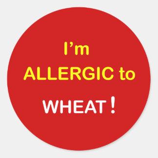 g8 - I'm Allergic - WHEAT. Classic Round Sticker