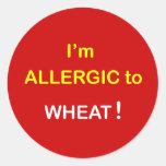 g8 - Soy alérgico - TRIGO Etiqueta Redonda