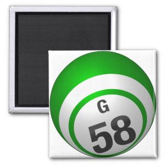 G 58 bingo ball magnet