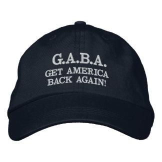 """G.A.B.A. GET AMERICA BACK AGAIN!"" Baseball cap"