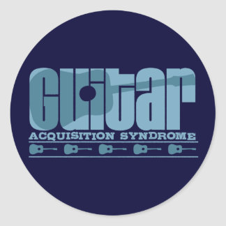 G.A.S. Acoustic Blue Classic Round Sticker