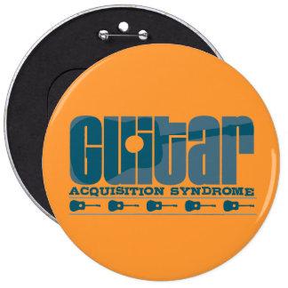 G.A.S. Azul acústico Pin Redondo De 6 Pulgadas