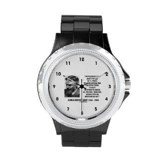 G.B. Shaw Progress depende de hombre irrazonable Relojes De Pulsera