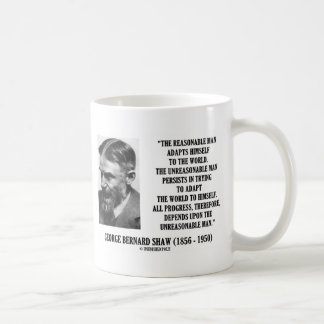 G. B. Shaw Progress Depends Upon Unreasonable Man Coffee Mug