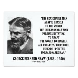 G. B. Shaw Progress Depends Upon Unreasonable Man Personalized Invites