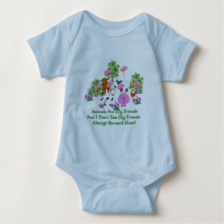 G. B. Shaw Vegetarian Quote Baby Bodysuit