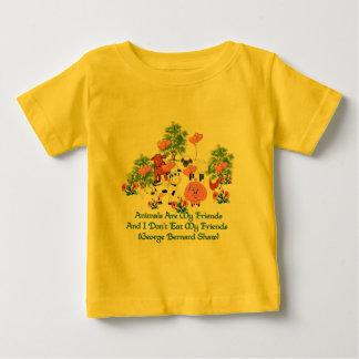 G. B. Shaw Vegetarian Quote Baby T-Shirt