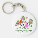G. B. Shaw Vegetarian Quote Basic Round Button Keychain
