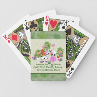 G. B. Shaw Vegetarian Quote Bicycle Playing Cards