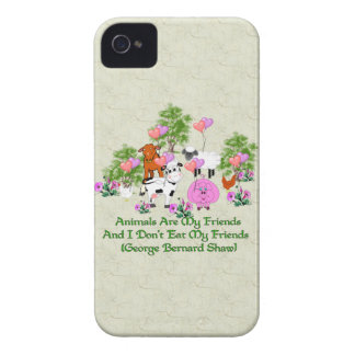 G. B. Shaw Vegetarian Quote iPhone 4 Case-Mate Case