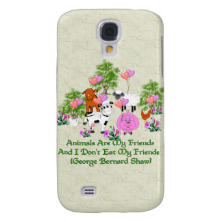 G. B. Shaw Vegetarian Quote Galaxy S4 Case
