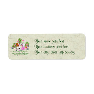 G. B. Shaw Vegetarian Quote Label