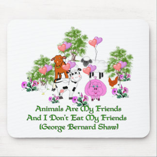 G. B. Shaw Vegetarian Quote Mouse Pad