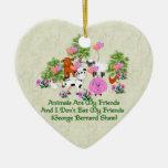G. B. Shaw Vegetarian Quote Christmas Tree Ornament