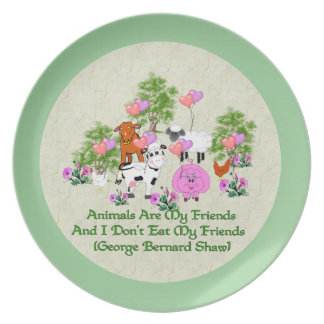 G. B. Shaw Vegetarian Quote Plate