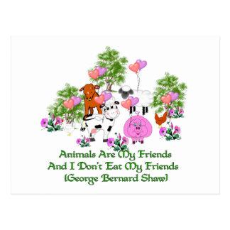 G. B. Shaw Vegetarian Quote Postcard