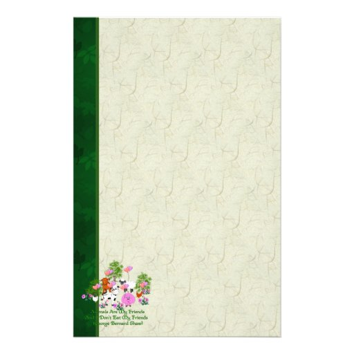 G. B. Shaw Vegetarian Quote Stationery