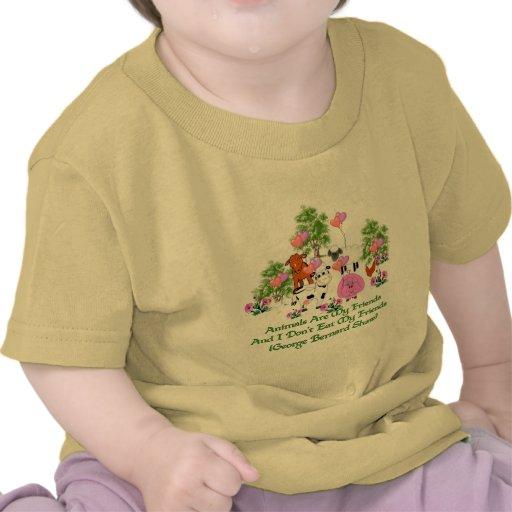 G. B. Shaw Vegetarian Quote Tshirts