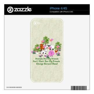 G.B. Vegetarian Quote iPhone 4S Skins
