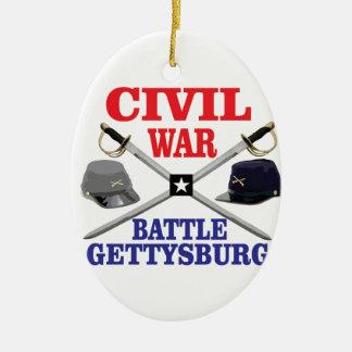 g battle in red blue ceramic ornament