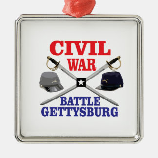g battle in red blue metal ornament