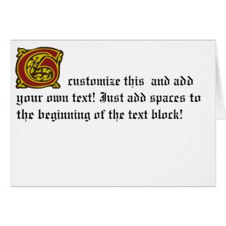 G GREETING CARD