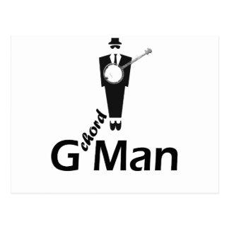 G chord Man Postcard