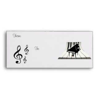 G-Clef Grand Piano and Keyboard Envelope