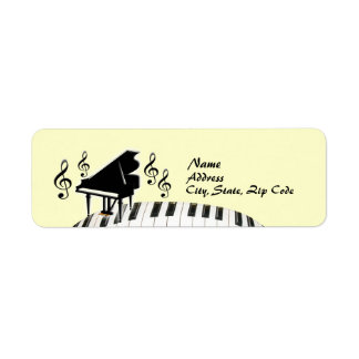 G-Clef Keyboard Grand Piano Label