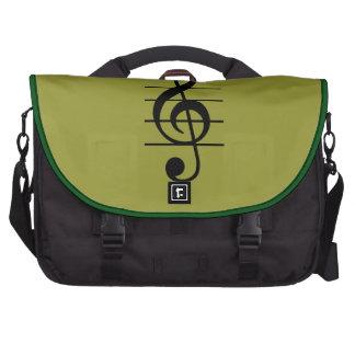 G clef laptop bag