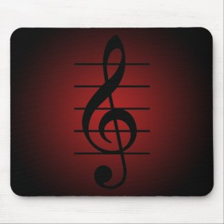 G clef mouse pad