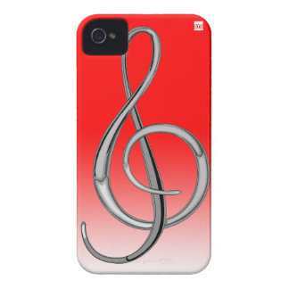 G Clef Music iPhone 4 Case-Mate Case Red