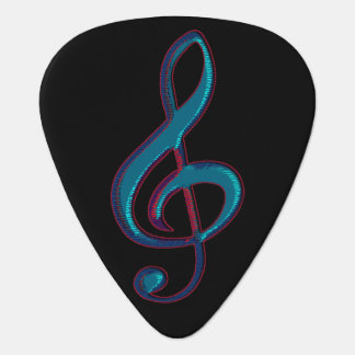 G clef music note rock style personalized pick