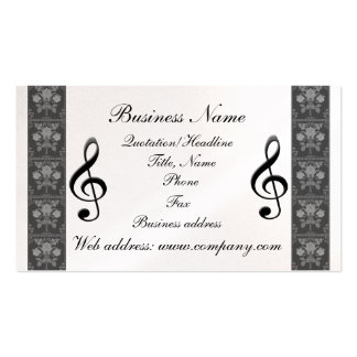 G-Clef Music Notes Business Card