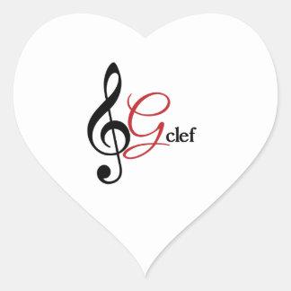 G-Clef Heart Sticker