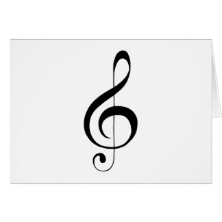G-Clef Treble Clef Gifts Card