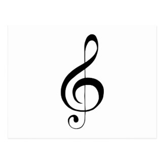 G-Clef Treble Clef Gifts Postcard