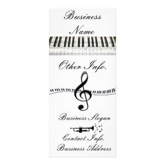 G-Clef y trompeta del teclado de piano Lona Publicitaria